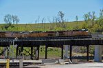 UP 5680 leads a Wb coal empty Over Santa Fe Junction.